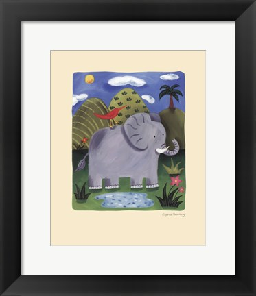Framed Nellie the Elephant Print