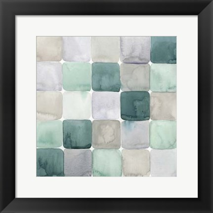 Framed Watercolor Window Panes II Print