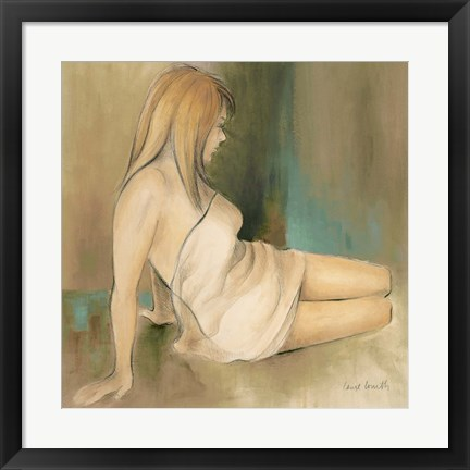 Framed Waking Woman II (green) Print