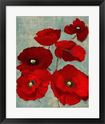 Framed Kindle's Poppies II Print