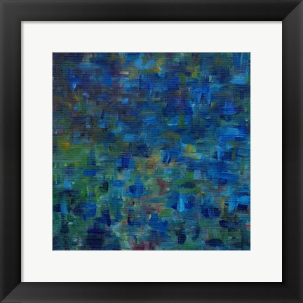 Framed Mixed Emotions in Blue II Print