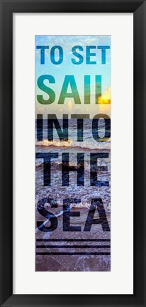 Framed Sea and Sky I Print