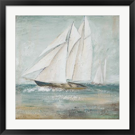 Framed Cape Cod Sailboat I Print