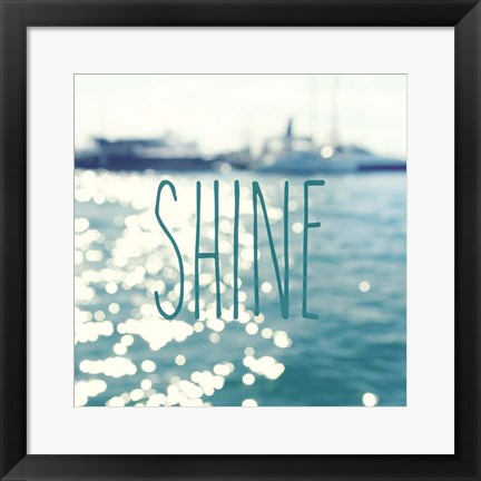 Framed Shine In The Ocean Print