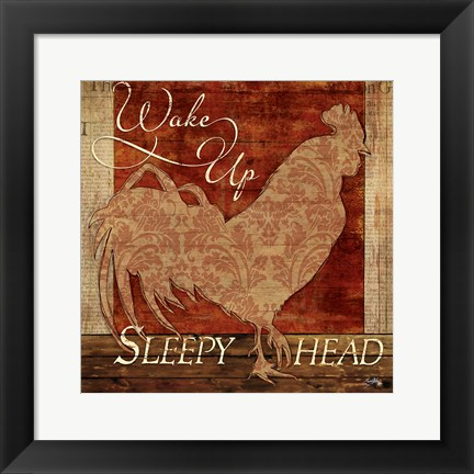 Framed Wake Up Sleepy Head Print