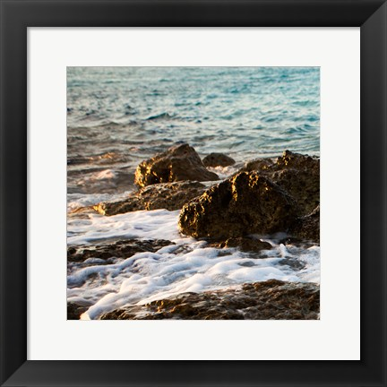 Framed On the Rocks I Print