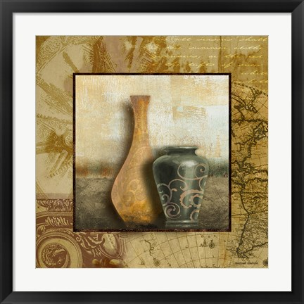 Framed Library Vessels II Print