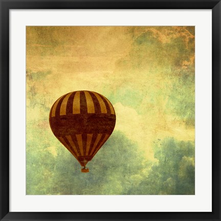 Framed Air Balloon Ride Print