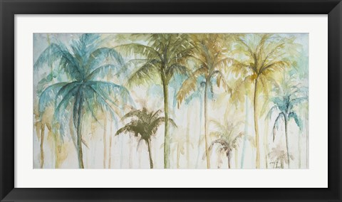Framed Watercolor Palms Print