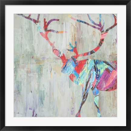 Framed Rhizome Deer Print