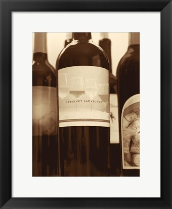Framed Wine Bottles II Print