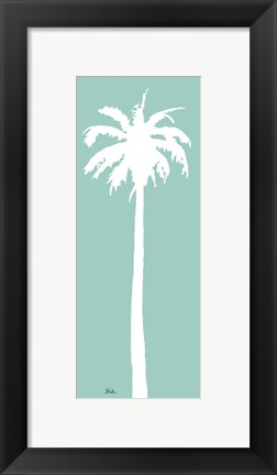 Framed Teal Palm I Print
