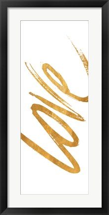 Framed Vertical Gold Love Print