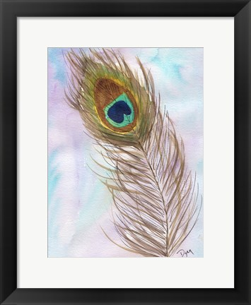 Framed Peacocl Feather 2 Print