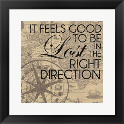 Framed Right Direction Print