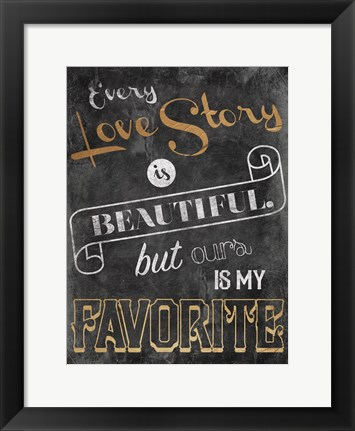 Framed Love Story Print
