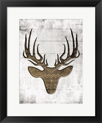 Framed White Wood Dear Mate Print