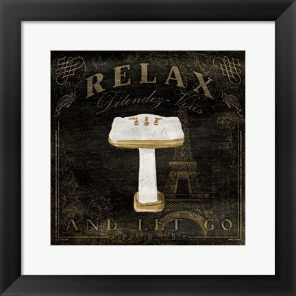 Framed Classic Relax Sink Print