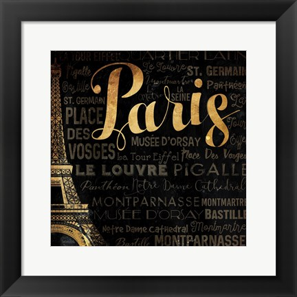 Framed Left Side of Paris Print
