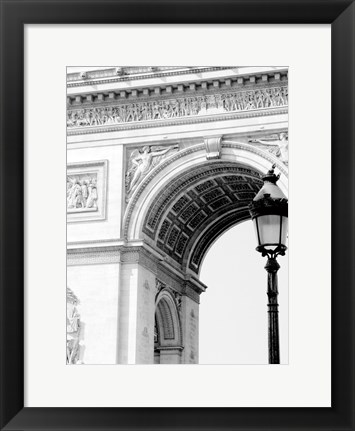 Framed Paris Arc de Triomphe Print