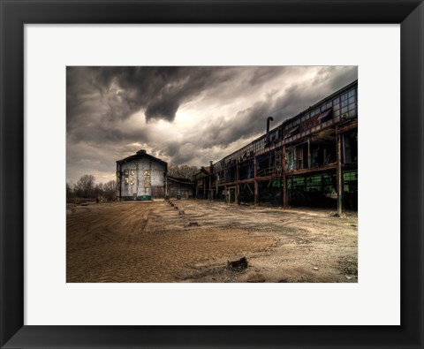 Framed Ancient Train Yard 1 Print