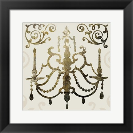 Framed Glamour Gold 1 Print