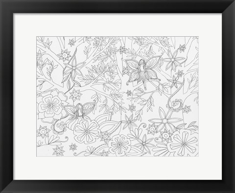 Framed Fairy Floral Print