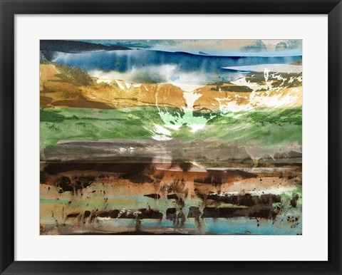 Framed Mountain Abstract II Print