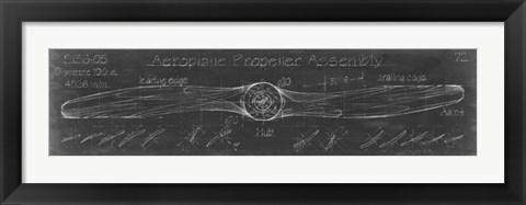 Framed Propeller Diagram Print