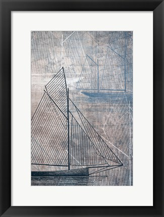 Framed Danielas Sailboat IV Print