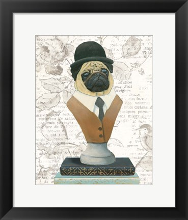 Framed Canine Couture Newsprint III Print