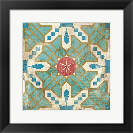 Framed Bohemian Sea Tiles III Print