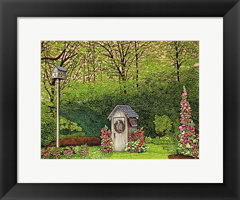 Framed Outhouse Print