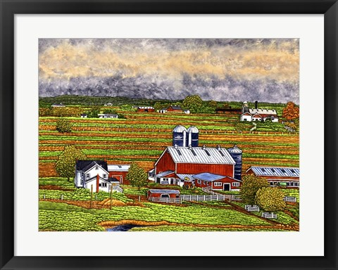 Framed Farm Country, Lancaster Co, Pa Print