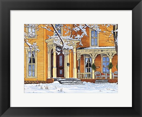 Framed Welcome Home, Springville Ny Print