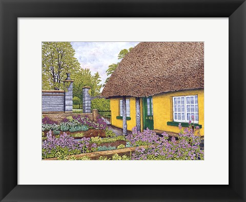 Framed Yellow Cottage Print