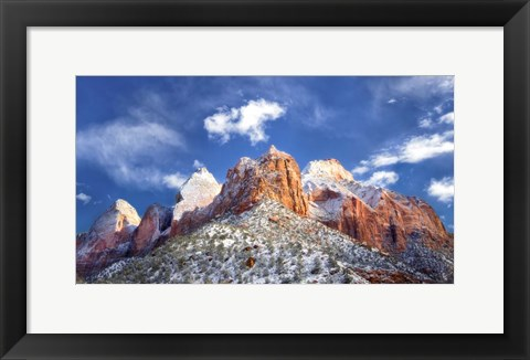 Framed Zion Mountain Clouds Print