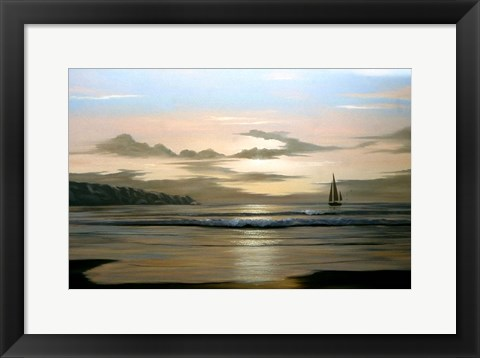 Framed Calm Sailing Print