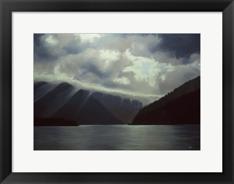 Framed Lake View Print