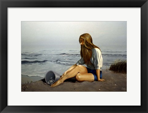Framed Day on the Beach 7 Print