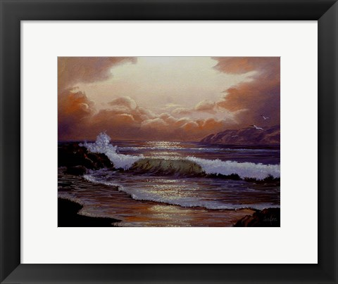 Framed Waves 1 Print