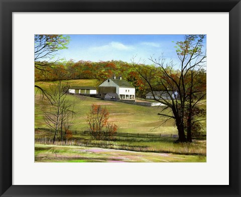 Framed Valley Forge Farm Print