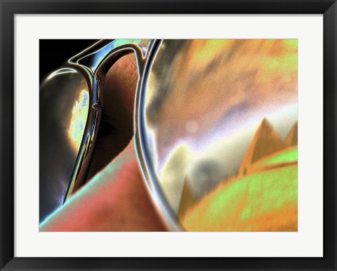 Framed Pyramids in Sunglasses Print
