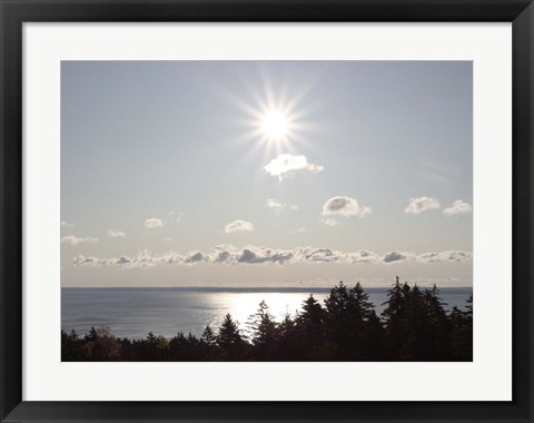 Framed Atlantic Skies I Print