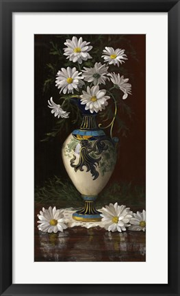 Framed Daisies in Royal Worchester Print