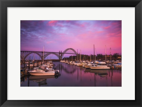 Framed Yaquina Bay Sunrise Print