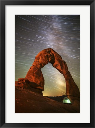 Framed Delicate Arch Star Trails Print