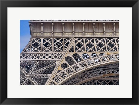 Framed Eiffel Tower HDR Details Paris Print