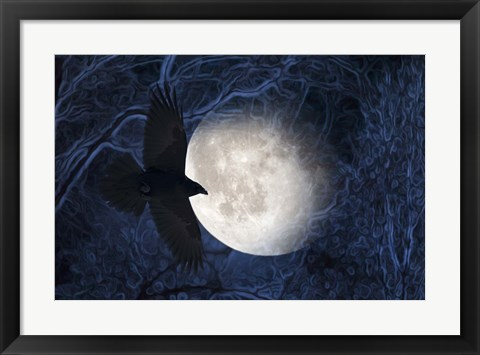 Framed Flying at the Moon Print