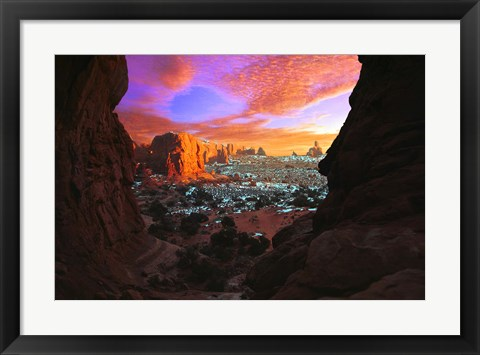 Framed Snow in the Desert Print